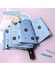 MMWW Winnie The Umbrella sombrilla de Vinilo Parasol sombrilla Triple automática sombrilla Anti-Ultravioleta Oso sombrilla