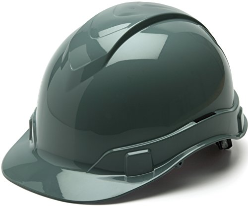 Pyramex Ridgeline Cap Style Hard Hat, 4 Point Ratchet Suspension, Slate (Hard Hats For Construction)
