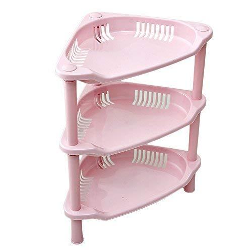 uminilife Corner Shower Organizer Caddy Bathroom Corner Shelf Storage  Shelves (Pink)