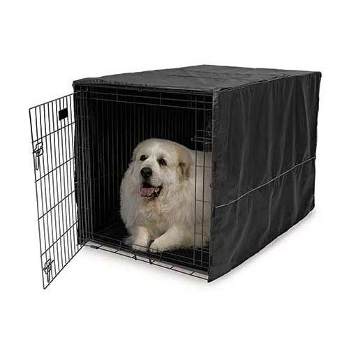 Midwest Quiet Time Crate Cover Black Polyester 48.5'' x 31'' x 31'' (Set of 3)