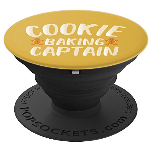Cookie Baking Captain - Baking Crew - Gingerbread Christmas - PopSockets Grip and Stand for Phones and Tablets