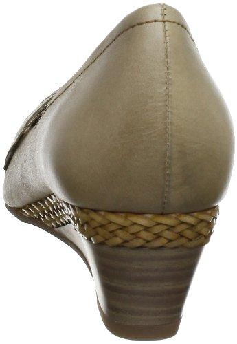 Marco Tozzi 2-2-22306-20 - Zapatos de tacón de cuero para mujer Marrón (Braun (PEPPER ANTIC 334))