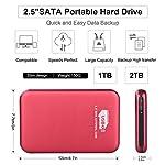 Hattahh-Hard-Disk-Esterno-25-USB30-SATA-HDD-Storage-per-PC-Mac-Laptop-Chromebook-Xbox-360-Xbox-1-TB-Nero
