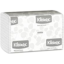 Kleenex 01890 Multi-Fold Paper Towels, 9 1/5 x 9 2/5, White, Pack of 150 (Case of 16 Packs)