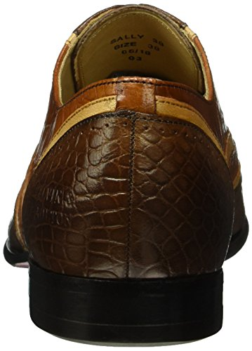 Melvin&Hamilton Sally 38 - Zapatos Mujer Marrón - Braun (Croco Venice Dk.Brown/Venice Beige/big Croco Tan/hRS)