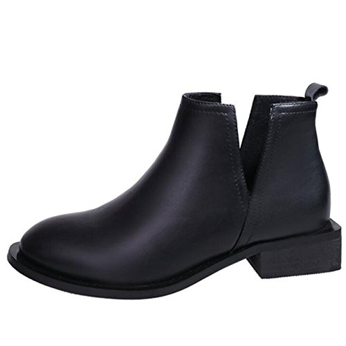 Binying Pointed Slip Block Heel Women's Chukka Boots on Toe rFwvqr