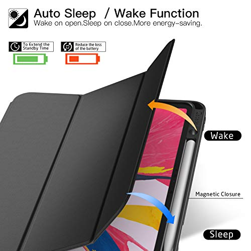 Ztotop Case for iPad Pro 12.9 Inch 2018, Full Body Protective Rugged Shockproof Case with iPad Pencil Holder, Auto Sleep/Wake, Support iPad Pencil Charging for iPad Pro 12.9 Inch 3rd Gen - Black by Ztotop (Image #2)