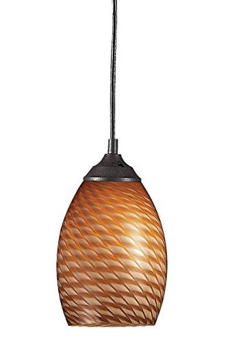 Mini Pendants 1 Light With Sand Black Finish Steel Medium Base Bulb 5 inch 60 Watts