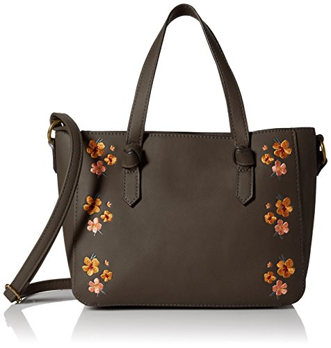 T Floral Shirt Brown Embroidery Mini amp; Satchel with Jeans aarxpZq
