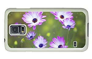 Hipster Samsung Galaxy S5 Case carry cases white and pink flowers PC White for Samsung S5