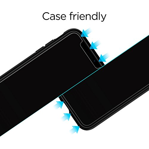 iPhone X Panzerglas, 2 Stück, Spigen, Easy Install Kit, Case Friendly, 9H gehärtetes Glas, Antikratz, Glas 0.33mm, iPhone X Schutzfolie, iPhone X Panzerglas Schutzfolie (057GL22565)