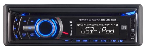 Dual XDMA6510 In-Dash AM/FM CD Player with MP3/Full iPod/iPhone Control - Excursion Dual Arms