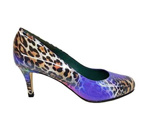 Leopard Leather Closed Women´s Multicolor Pumps Leather GENNIA Patent Toe Arcoleo VETE847 1zxwaSUO