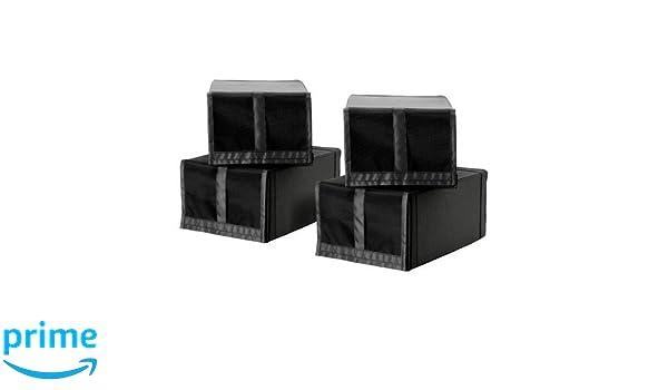 IKEA SKUBB - caja de zapatos, negro / 4 Pack - 22x34x16 cm: Amazon.es: Bebé