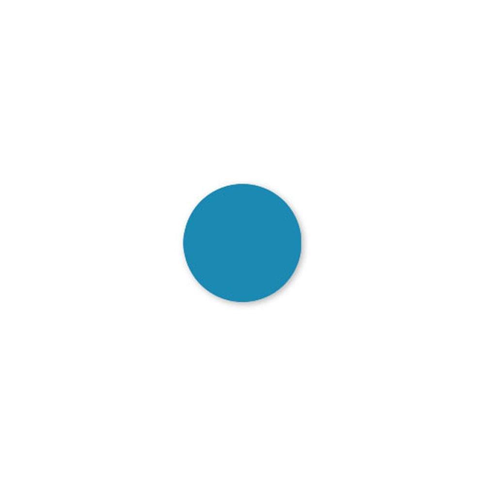 DayMark 112501 Solid Blue 3/4'' Round Label - 2000 / RL