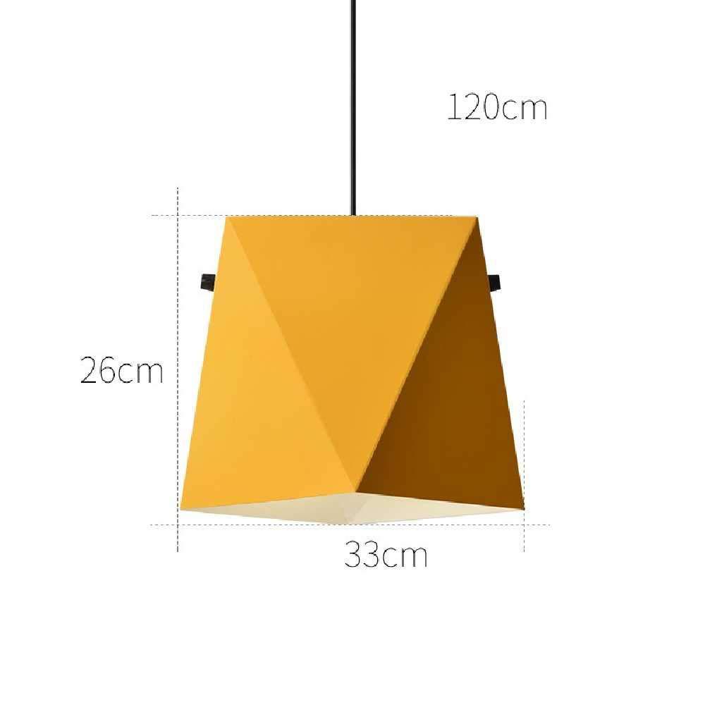 jaune  HY-lumière Nordic Mavoitureon Mono-tête Artistique Créative Lustre Moderne Minimaliste Lustre Restaurant En Fer éClairage D'éclairage jaune