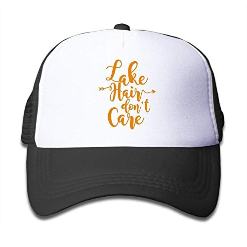 (Lake Hair Don't Care Adjustable Mesh Polyester Youth Hip-Hop Sun Hats)