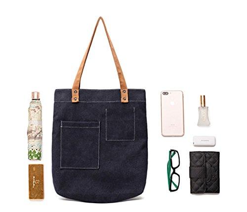 6781af18438 Handbags Hobo Tote Shopping Work Shoulder Canvas Casual Womens  buy online  814d3 735d2 Tote Simple Shoulder Handle Bag Fanspack Casual Canvas Work Top  Bag ...