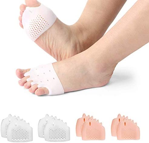 (8PCS) Ball of Foot Cushions, Metatarsal Pads/Cushion,Bunion Corrector,Forefoot Cushions Best for Metatarsal Pain & Diabetic Feet,Bunion/Forefoot Pain Relief – for Men & Women.