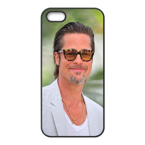 Brad Pitt5 coque iPhone 5 5S cellulaire cas coque de téléphone cas téléphone cellulaire noir couvercle EOKXLLNCD22376