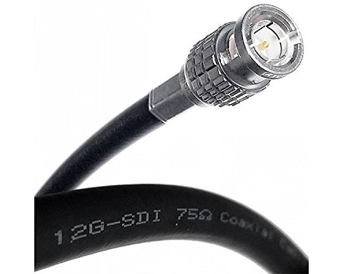 6 Foot Canare (L-5.5CUHD) 12G-SDI 4K UHD Video BNC Coax Cable Sold by Custom Cable Connection ()