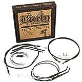 Burly Brand Cable/Brake Line Kit for Ape Hangers for Harley Davidson 2007-13 FX - 14''