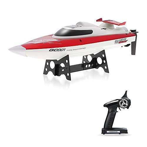 Flying Rc Boats (GoolRC GC001 Remote Control Boat 2.4GHz 30km/h High Speed Electric 360 Degree Flipping RC Boat Perfect Toy for Pools and Lakes)