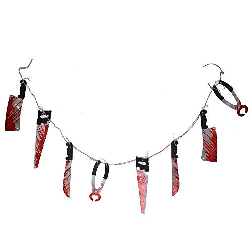 Bloody Weapons Bloody Hand Feet Garland Props for