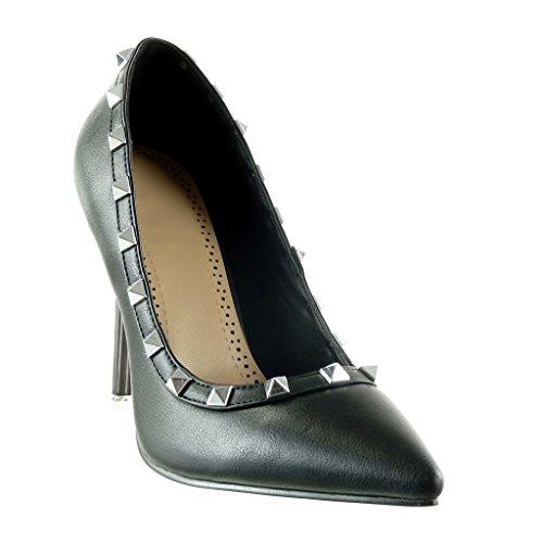 Angkorly - damen Schuhe Pumpe - Stiletto - Nieten - besetzt Stiletto high heel 10.5 CM Schwarz