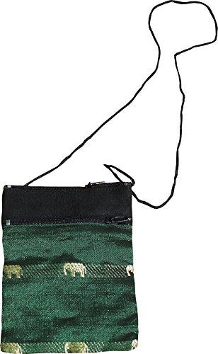 Bag Silk Mid Green Full Shoulder Size Pouch Thai Funk Forest xq77Tn1