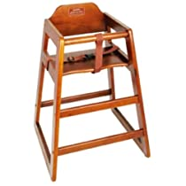 High Chair CHH-104 Walnut Wood Knocked-Down Winco, SET OF 3