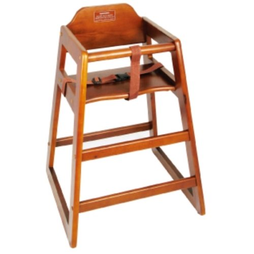 (High Chair CHH-104 Walnut Wood Knocked-Down Winco, SET OF 3)
