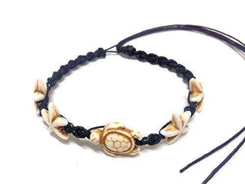 own Color - Turtle Hemp Bracelet or Anklet - Starfish Anklet - Adjustable Cord (Ecolution Hemp Fabric)