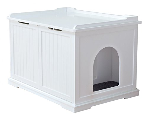 Trixie Pet Products Wooden Pet House X-Large and Litter Box, White -  40233