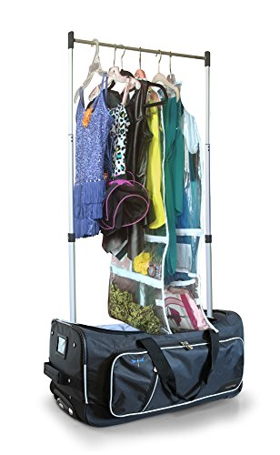 Travolution 23 Inch Garment Rack Duffel with Wheels, White