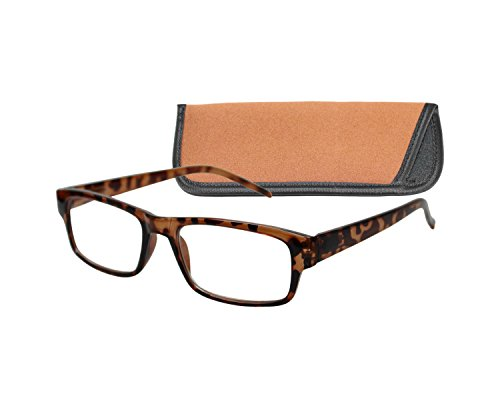 ICU Wink Tortoise Rectangle W/Spring hinges/Reading Glasses/