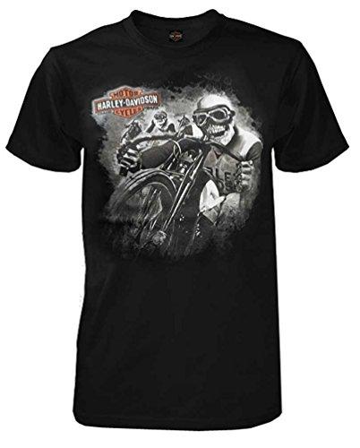 HARLEY-DAVIDSON Men's Captain Skull All-Cotton Short Sleeve T-Shirt, Black (S)