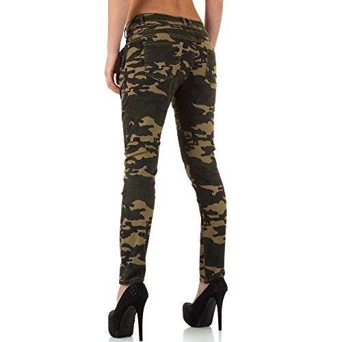 Camouflage Low Skinny Jeans Für Damen , Grün In Gr. Xs bei Ital-Design