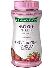 Nature's Bounty Hair, Skin & Nails with Biotin, Skin and Hair Nutrients, 165 Gummies