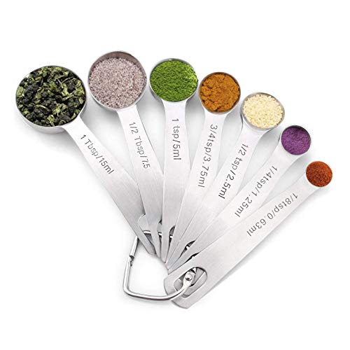 Homepixi Stainless Steel Measuring Spoon Set, Set of 7 Price & Reviews