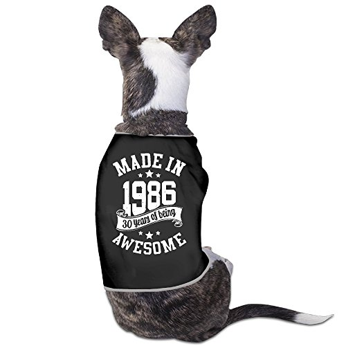 Theming Made In 1986 30 Years Of Being Awesome Dog Vest (Halloween In Indiana)