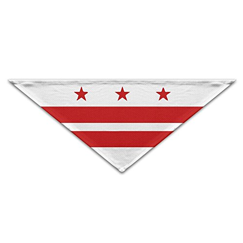 YanHill Patriotic State Flag Of Washington D.C. Pet Bandana Triangle Dog Cat Neckerchief Bibs Scarfs Accessories For Pet Cats And Baby -