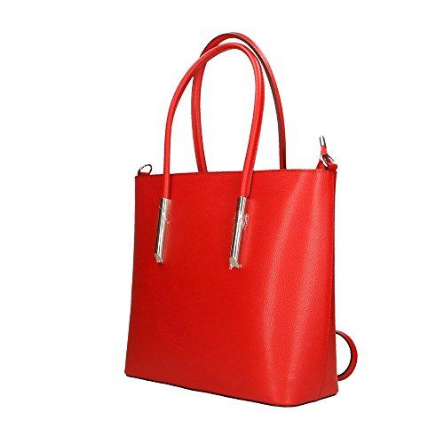 35x29x12 Femme Italy À Made Aren Bandoulière En In Cm Sac Véritable Rouge Cuir q4HHwvf
