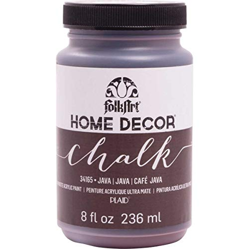 FolkArt Home Decor Chalk Furniture & Craft Paint in Assorted Colors (8 Ounce), 34165 Java