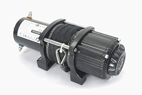 AC-DK 12V 4500lb ATV Winch UTV Winch Electric Winch Set for 4x4 Off Road (4500lb Winch with Synthetic Rope) by AC-DK (Image #4)