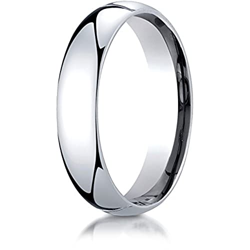 Benchmark Palladium 5mm Slightly Domed Standard Comfort-Fit Wedding Band Ring (Sizes 4 - 15 )