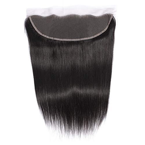 "Lace Frontal Closure Brazilian Virgin Hair Straight Human Hair Lace Frontal Closure with Baby Hair 13X4 Ear to Ear Lace Front Closure Free Part (10"")"