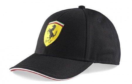 Ferrari Kids Black Shield Hat (Kids Ferrari Cap)