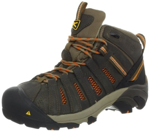 KEEN Utility Women's Flint Mid Work Shoe,Shitake/Burnt Orange,5 M US by KEEN Utility