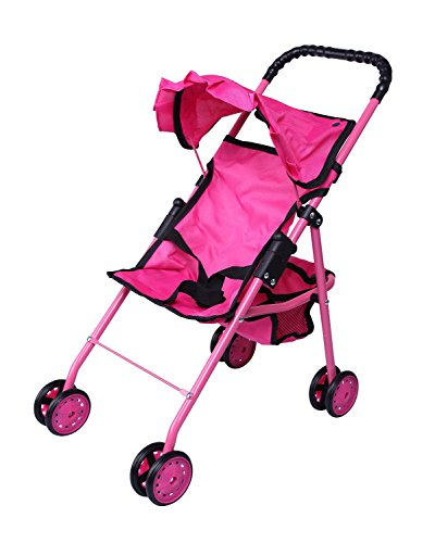 Precious Toys 0126A Hot Pink Doll Stroller with Black for sale  Delivered anywhere in USA